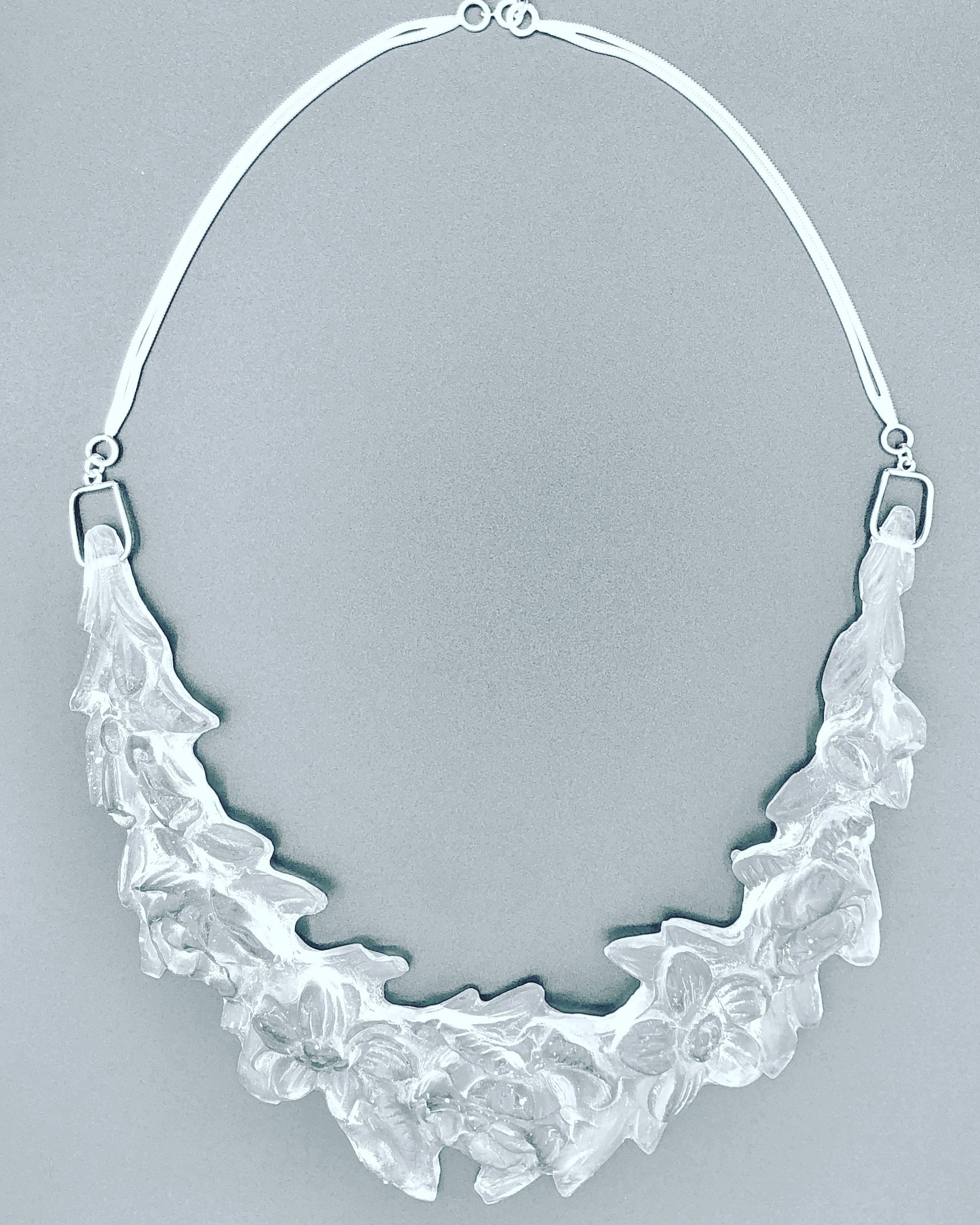 silver and resin necklace